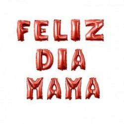 Globo letrero feliz día mamá