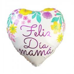Globo corazón feliz día mamá