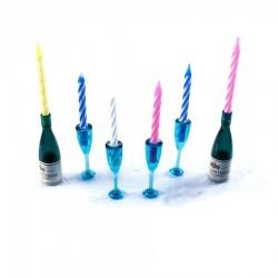 Vela de cumpleaños champagne