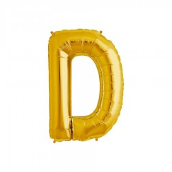 Globo letra D de 16 pulgadas