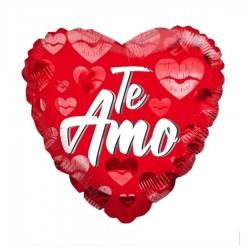Globo corazón te amo besos