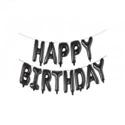 Globos frase happy birthday