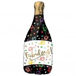Globo champaña negra fabulous