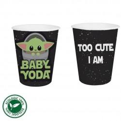 12 Vasos baby yoda