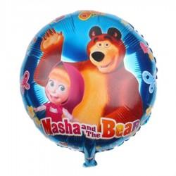 Globo azul Masha y el oso