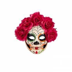 Máscara de catrina de plástico
