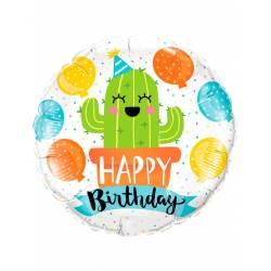 Globo cactus Happy Birthday