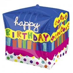 Globo de cumpleaños cubo