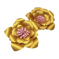 Flor de papel mediana