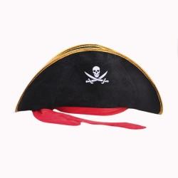 Sombrero pirata curvo con...